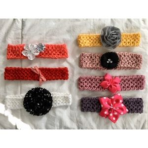 Other - Baby Girl Knitted Headband Set